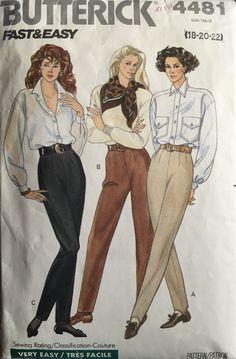 Vogue Sewing Patterns, Vintage Sewing Patterns, Retro Fashion, Vintage Fashion, Fall Fashion, Stirrup Pants, Mode Vintage, Pants Pattern, Fashion Sketches