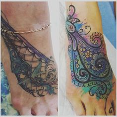 Cute cover up tattoo for foot