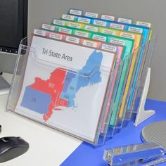 StationMate® Inclined StepUp File Desktop Organizer Includes PocketFile™ Project Files – Office Organization At Work Cubicle Organization, Office Organization At Work, Folder Organization, Desktop Organization, Organization Hacks, Organizing Papers, Paperwork Organization, School Organisation, Organized Office