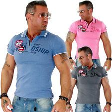 Herren Shirt T Shirt Polo Poloshirt Polohemd Hemd Slim FIT Clubwear NEU 16112 | eBay