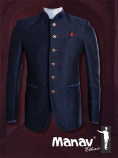 INMONARCH Mens Black Polyester 3 Pc Indian Nehru Collar Suit 8 Button NS130