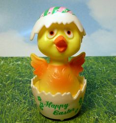 Vintage Easter Chick on Wheels by Paisleyana on Etsy