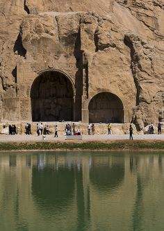 Carved Alcoves, Taq-e Bostan, Kermanshah, Iran