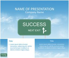 Success Road Sign PowerPoint Template