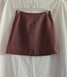 Ladies Size Small Express Tribal Lined Stretch Skirt Tan,black And Neon Yellow