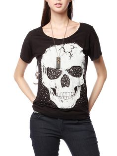 STUD & BEAD DETAIL SKULL TOP (a favourite gothic punk clothes repin of VIP Fashion Australia )