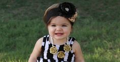 Golden Girl Flower Necklace > on sale at Lilly Lou Finds #lolaanddarladesigns #jewelry #littleprincess #familypictureidea