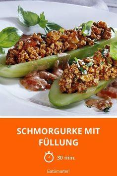 Schmorgurke mit Füllung - smarter - Zeit: 30 Min.   eatsmarter.de
