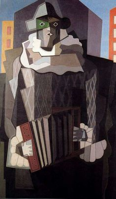 EMILIO PETTORUTI (one of the pioneers of cubism in Argentina), Harlequin, found at lazarillo mochilero Traditional Paintings, Contemporary Paintings, Traditional Art, Georges Braque, Rene Magritte, Cubist Art, Abstract Art, Pablo Picasso, 20th Century Painters