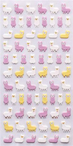 kawaii alpaca sponge stickers  Crux Japan 2