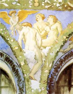 Three Nudes with Cupid - John Singer Sargent