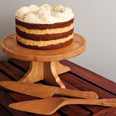 anniversary Wedding cake stand,Personalized wedding anniversary Wooden cake stand custom wedding cake stand with server and knife by DaySpringMilestones on Etsy Wedding Cake Stands, Wedding Cakes, 50th Wedding Anniversary Cakes, Wooden Cake Stands, Wedding Gifts For Parents, Family Gifts, Personalized Wedding, Vanilla Cake, Desserts
