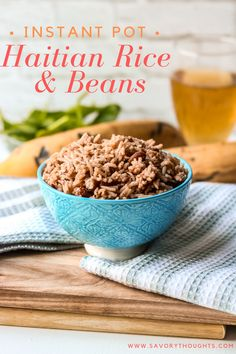Instant Pot Haitian Rice And Beans – Rice Recipes Haitian Food Recipes, Cuban Recipes, Rice Recipes, Baby Food Recipes, Dessert Recipes, Cooking Recipes, Beans Recipes, African Recipes, Donut Recipes