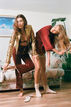 bella hadid and sonya gorelova by brianna capozzi for pop spring / summer 2015 | visual optimism; fashion editorials, shows, campaigns & more!