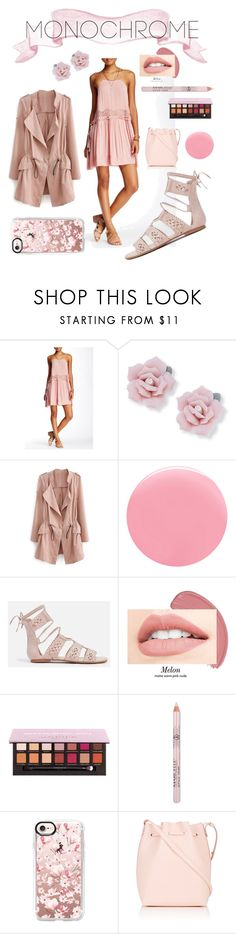 """""""PalePink"""" by quentonriccomini ❤ liked on Polyvore featuring Free People, Palm Beach Jewelry, Nails Inc., Casetify, Mansur Gavriel and QR"""