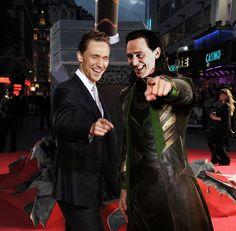 Tom and Loki at 'Thor 2' premiere