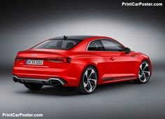 Audi RS5 Coupe 2018 poster, #poster, #mousepad, #tshirt, #printcarposter