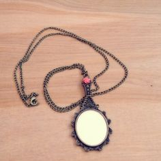 Handmade Necklace with Vintage Style Mirror by CountryMermaids