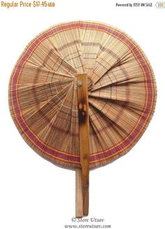 Fan Handmade Portable And Collapsible Indian Handicraft Home Decor Fine Bamboo Sticks Arts Collectible From Tripura In North East India