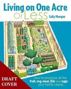 Living on One Acre or Less: How to Produce All the Fruit, Veg, Meat, Fish and Eggs Your Family Needs (Paperback)