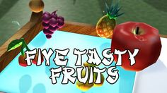 Five Little Fruits Song | Kids Songs | Frozen Songs | Nursery Rhyme for ...