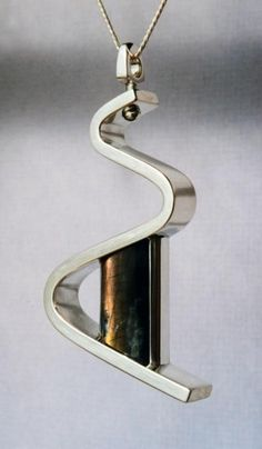 Orange Labradorite, Zig-zag Design | Pendants | Wesley Harris MFA