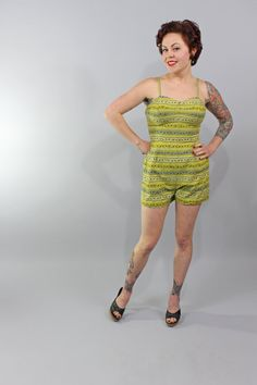 Is it summer yet?  1950s Vintage PlaysuitSO MUCH LOVIN Summer Beach by stutterinmama, $78.00
