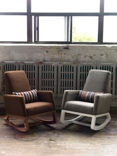 Joya Rocker: With a small footprint, a agentle rock and a tall supportive back. Made in Canada. $895