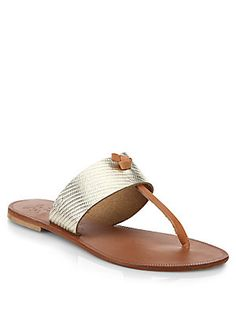 nice metallic leather sandals / joie