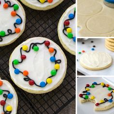 37 Adorable Diy Christmas Lights Cookies Ideas For Your Décor That Looks Cool Holiday Cookie Recipes, Holiday Cookies, Holiday Baking, Holiday Treats, Cookie Ideas, Holiday Fun, Christmas Snacks, Christmas Cooking, Christmas Candy