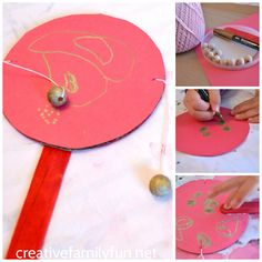 Make a simple Chinese Rattle Drum craft with your kids. It's a fun craft for Chinese New Year.