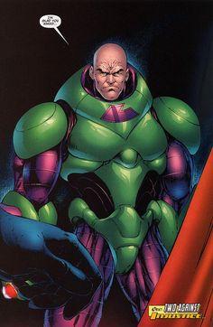 Lex Luthor - Power Armor Green and Purple 2 Batman Comic Art, Batman Comics, Dc Comics, Lex Luthor Superman, Superman Family, Evil Geniuses, Arch Enemy, Tv Tropes, Man Of Steel