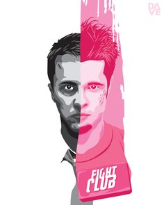Fight Club poster - print from Dave CineArt (a series of my own designed fan film posters)
