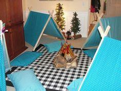 Indoor camping - girls birthday sleepover ...   Birthday Party Ideas
