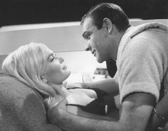 Sean Connery and Shirley Eaton (2491x1962 pixels)