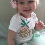 Pineapple 1st Birthday Outfit | Baby Girls Summer First Birthday Outfit | Peanut and Tot