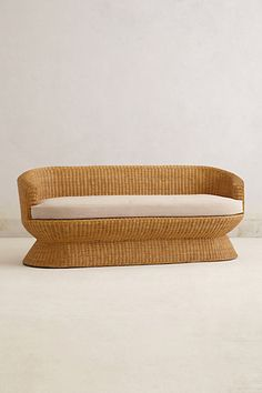 Wicker Pedestal Sofa #anthropologie #anthrofav #greigedesign