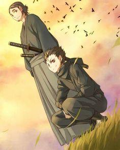 Nishinoya and Daichi - Nishinoya looks likes a badass ninja~