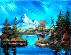 Mountain Landscape 14x18 inch spraypainting by RS10SprayPaint, $60.00