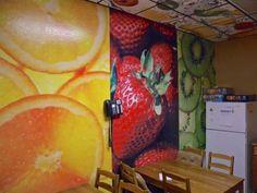 Cool Kitchen Walls! Kitchen Walls, Cool Kitchens, Utah, Arizona, Kitchen Design, Printing, Interior Design, Cool Stuff, Nest Design