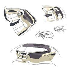 Car Interior Sketch, Car Interior Design, Interior Design Sketches, Industrial Design Sketch, Car Design Sketch, Interior Rendering, Interior Concept, Automotive Design, Car Sketch