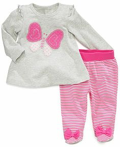 First Impressions Baby Girls' 2-Piece Shirt & Pants Set
