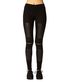 Faux Leather Zippered Leggings | FOREVER 21 - 2059912635