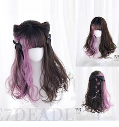 Long hair for men is certainly in style but there are considerations men will need to make when deciding to grow out their hair. Kawaii Hairstyles, Pretty Hairstyles, Wig Hairstyles, Lolita Hair, Lolita Makeup, Kawaii Wigs, 3 4 Face, Anime Hair, Anime Wigs