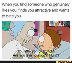 Memes is the best source to expressing the people's expression. Today, we find and share 47 hilarious memes photos that make your day. Stupid Funny Memes, Funny Relatable Memes, Funny Tweets, Haha Funny, Funny Shit, Funny Stuff, Funny Facts, Rick I Morty, Rick And Morty Season