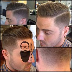 bover with fade and line up hair cuts