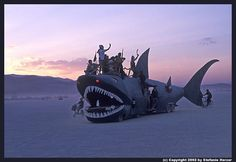 2002 Shark Car on the Playa - Black Rock City NV - Trevor NORTHSTAR Huber & Friends- Built in Smokey Point WA