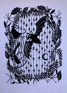 Bat- paper cute style print