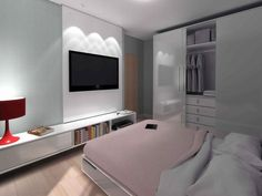 white-bedroom-design | Study areas, Small spaces and Televisions