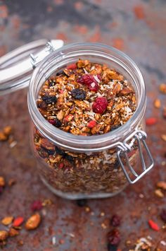 Hemmagjord granola med juliga smaker. Homemade granola with taste of christmas.